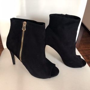 Express Open-Toe Ankle Boots - Black
